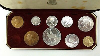 1953 United Kingdom Coronation Proof 10 Coin Set In Royal Mint Original Box