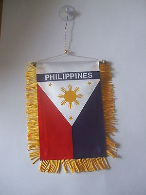Philippines Flag Pinoy Mini Car banner for your car or any window.Great gift.