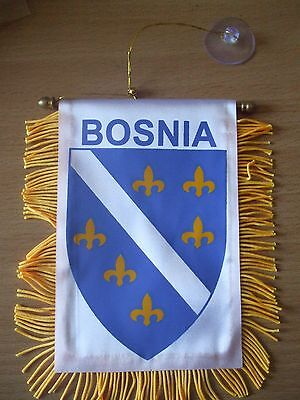Bosnia Flag/Bosnian Mini Car banner for your car mirror or window.Great gift.