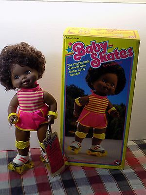 VINTAGE BABY SKATES DOLL Vintage Mattel New in Original Box 1982 WORKS MINT