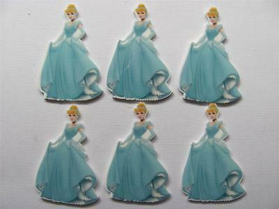 BB FLATBACKS planar CINDERELLA  pk of 6 flatback large disney princess