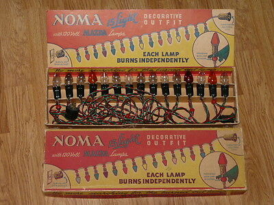 Vintage NOMA 15 light Decorative Outfit with Original Box