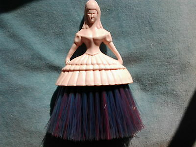 Vintage Retro Pink Ladies Doll Clothes Brush,Dressing Table Kitsch 1950s