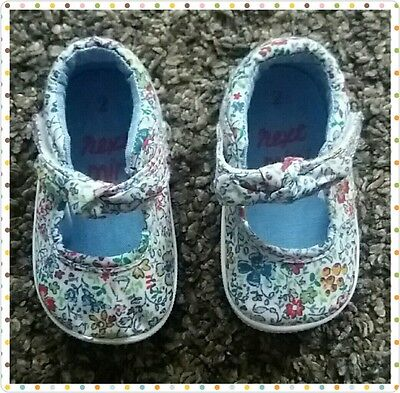 Baby Girls Next Shoes. Infant Size 2