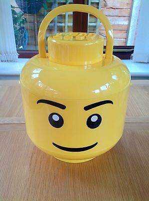 LEGO Large Lego Head Sort And Store Storage Box With Handle LEGOK118 - Retired