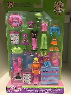 Polly Pocket Fashions 17pc SET doll toy vintage NEW