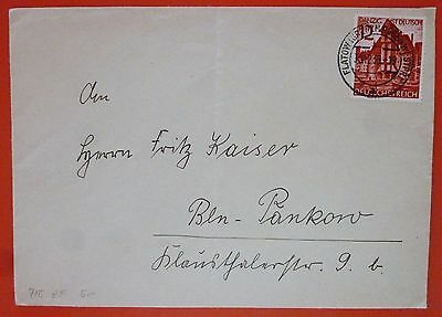 Germany Danzig 1939 Cover franked with a single stamp