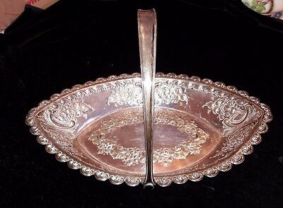 EP James Dixon and sons silver basket Sheffield with feet