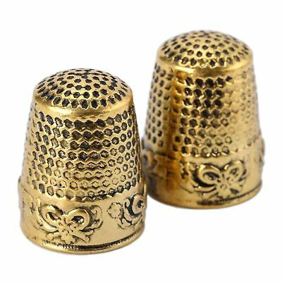 2pcs Metal Thimbles - Finger Sewing Grip Shield Protector For Craftwork DIY Tool