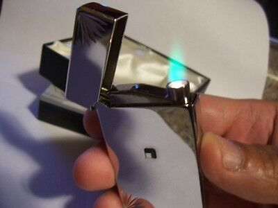 Styles Silver Diamond Cut Touch Sensor Beam Jet Lighter Great Dad Mom Boss Gift