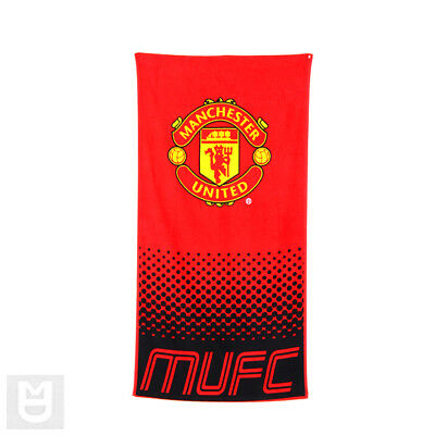MANCHESTER UNITED Official Fade Beach Towel