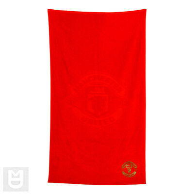 MANCHESTER UNITED Official Red Embroidered Towel