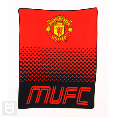 MANCHESTER UNITED Official Warm Red Fleece Blanket