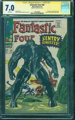 Fantastic Four 64 CGC SS 7.0 Stan Lee Jack Kirby Cover 1st Kree Sentry 67 no 8