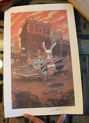 Sam & Max Print Signed by Steve Purcell  45x30cm