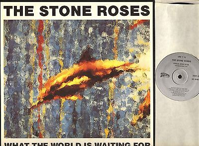 """THE STONE ROSES what the world is waiting for (original with print) 12"""" EX+/EX"""