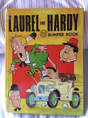 Laurel and Hardy Bumper book by Larry Harmon 1970 ***RARE***