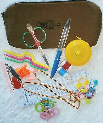 KNITTING TOOLS KIT - PARIS - YOU CHOOSE BAG - 4 COLOURS - 42 pieces - DELUXE #2