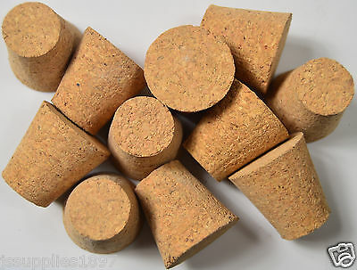 WOODEN CORK bung extra large Taper QTY 5. bottle stopper 21mm - 32mm taper