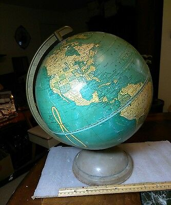 A Vintage Cram's Universal Terrestrial 12 Inch Globe. It Has Some Damage.
