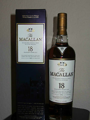 Macallan 1990/2008  18 Jahre Sherry Oak   Single Malt Whisky  RARITÄT