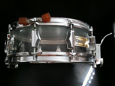 Vintage Fibes Clear Acrylic Snare Drum (early production)