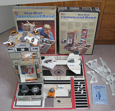 Vintage MB Games Star Bird Commander - Electronic Spaceship & Command Base (T)