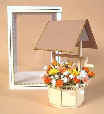 A4 Card Making Templates - 3D Wishing Well. FREE CRAFT TEMPLATE EVERY £10 SPENT!