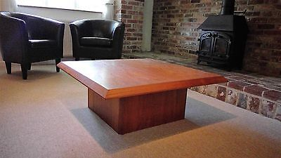 Retro Danish Solid Teak Large Square Coffee Table