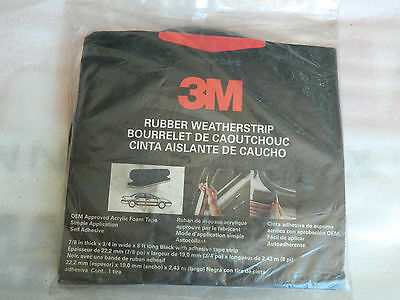 """NEW ROLL OF 3M 08650 EPDM HOLLOW RUBBER WEATHERSTRIP 7/8"""" THICK x 3/4"""" WIDE x 8'"""