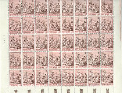 Vatican City - #411 - Dante Alighieri Full Sheet (1965) Mnh