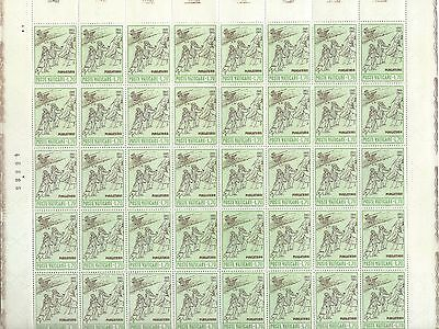 Vatican City - #412 - Dante Alighieri Full Sheet (1965) Mnh