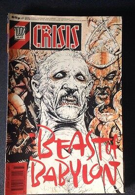 Crisis Issue 25 1989 2000AD Fleetway Publications