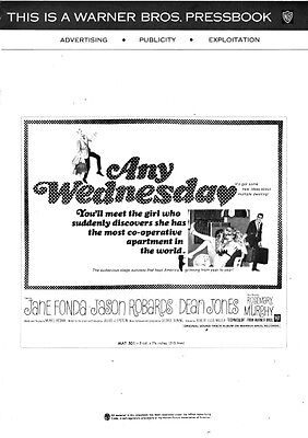ANY WEDNESDAY pressbook, Jane Fonda, Dean Jones, Rosemary Murphy, Jason Robards