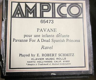 AMPICO 'ReCut' PAVANE FOR A DEAD PRINCESS Maurice Ravel #65473 Player Piano Roll