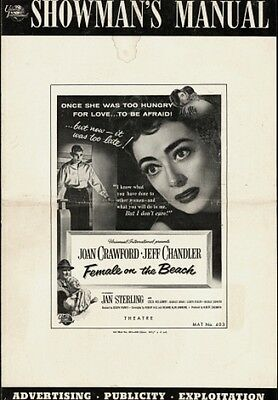 FEMALE ON THE BEACH pressbook, Joan Crawford, Jeff Chandler, Jan Sterling