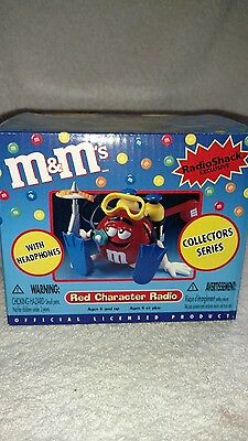 M&M's Red Character Radio With Headphones Collectors Series