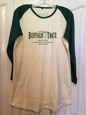 Buffalo Trace Bourbon Whiskey Baseball Shirt Graphic T Mens Size Large