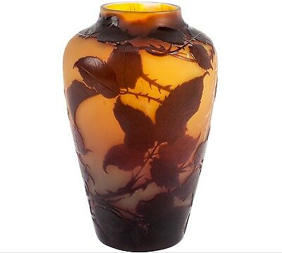 D'Argental French Nancy Cameo Vase circa 1900