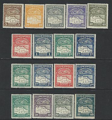 Venezuela - Airmail Mint Stamps (1930) Mostly Mlh Air Post Vibrant Colours