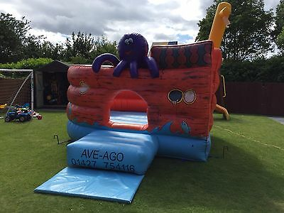 Pirate Ship Commercial Bouncy Castle Complete With Blower & Accessories