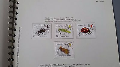 Ascension Island 1988 Sg 452-455 Insects (2Nd Series) Fine Used