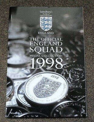 Sainsburys 1998 England Squad Medals Coins Complete