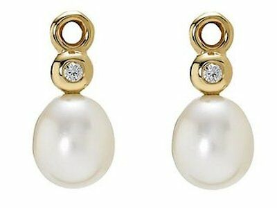 Pandora Yellow 14ct Gold Pearl and Diamond Earrings 250444D Charm