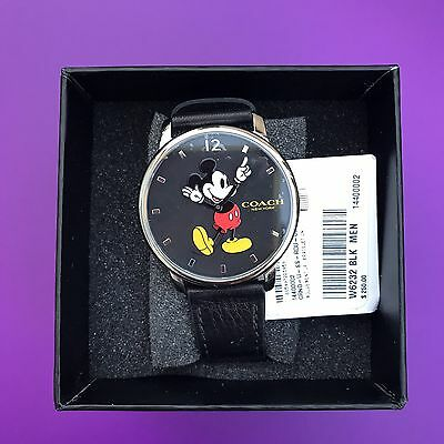 Coach Disney X Grand Mickey Mouse Watch W6232 Nwt