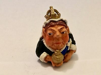 """A Hand Painted English Pewter Thimble of """"Queen Victoria"""""""