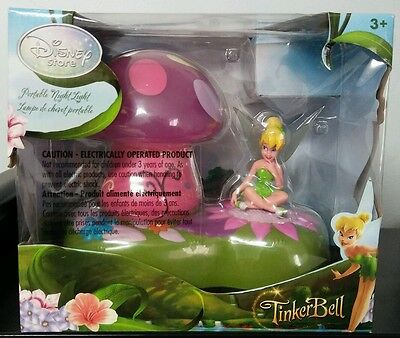 Tinkerbell Portable LED Night Light Disney Store *Limit 2009 Peter Pan Mushroom
