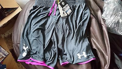 Tottenham Hotspur Spurs Grey 2014/2015 Home Goalkeeper Shorts XL - New With Tags