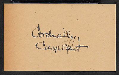 Cary Grant Autograph Reprint On Genuine Original Period 1940s 3x5 Card