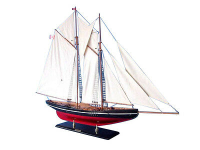 "Bluenose 50"" - Wood Sailing Yacht Model - Museum Quality Model Sailboat"